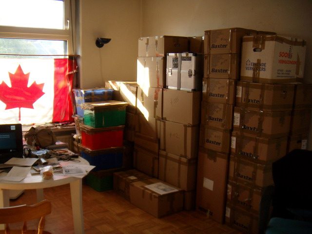 packed to move for emigration! 65 boxes were shipped