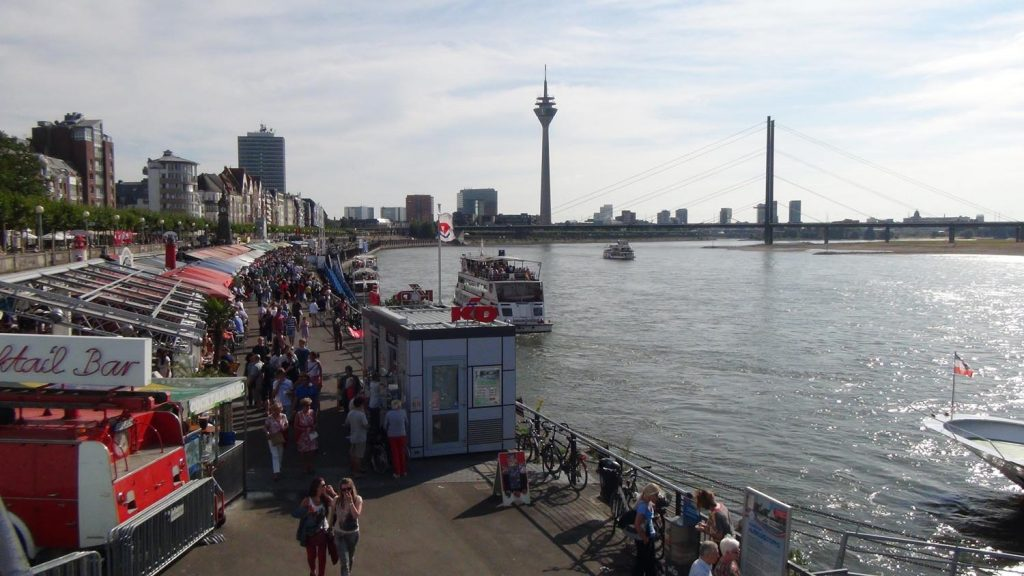 Back at the Rhine Riverside in Düsseldorf