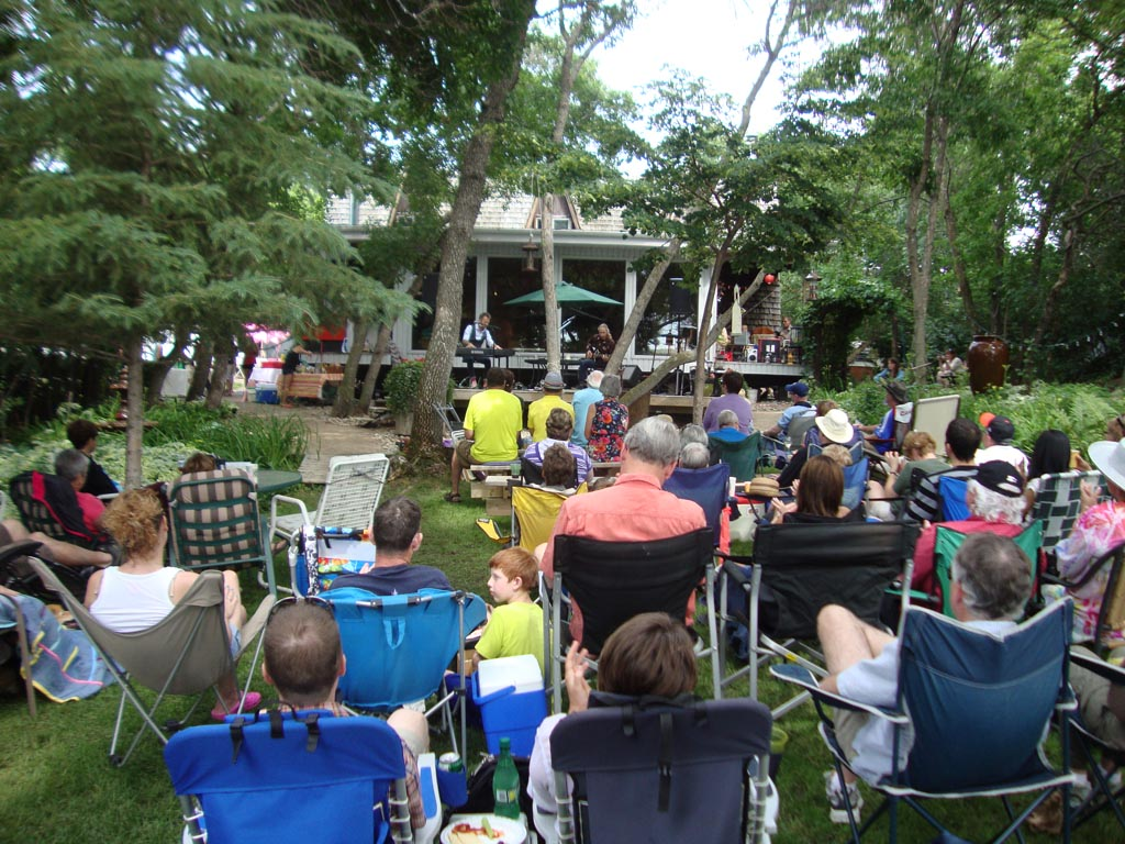 Jeffery Straker deck concert, Hartwell Cabin, Valley View, Buffalo Pound