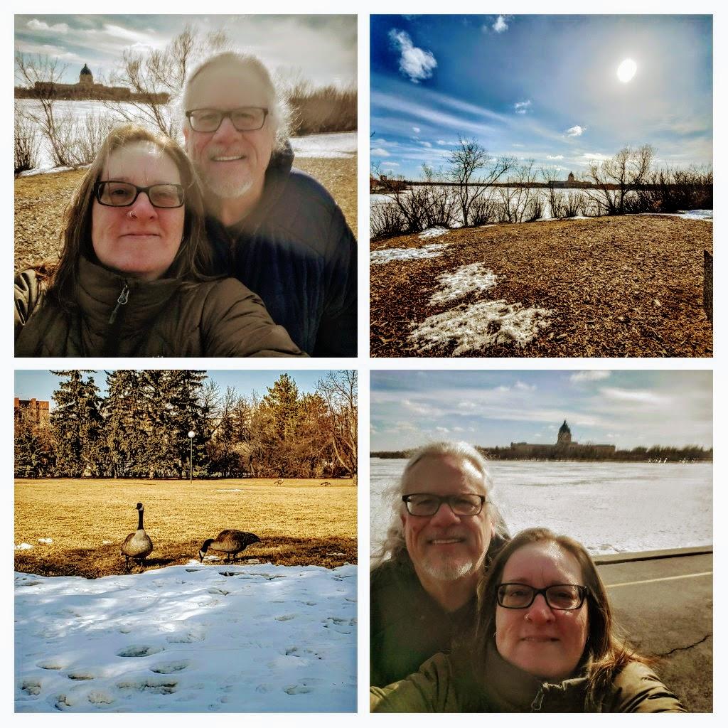 short walk by Wascana Lake