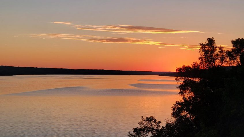 Hartwell cabin, Buffalo Pound, sunset
